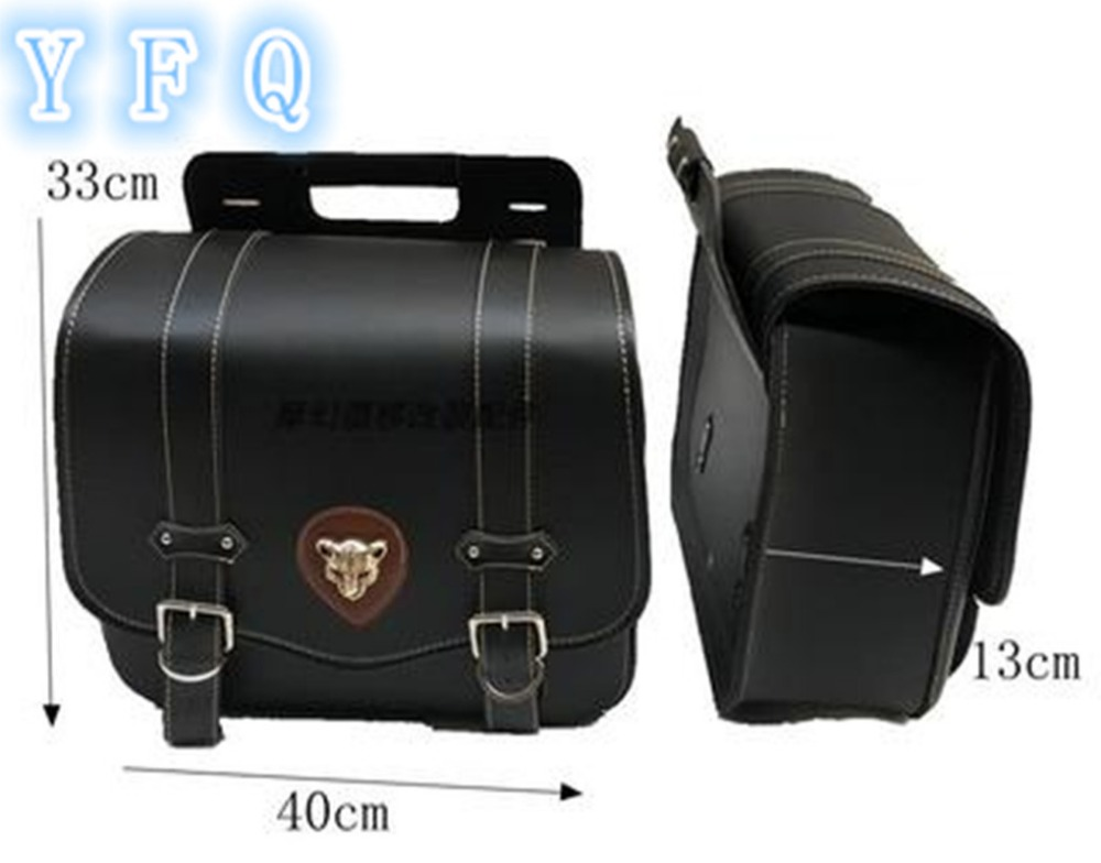 2017 new motorcycle luggage bags motorcycle modified side bag saddle bag kit PU leather side box for Halley cruise prince