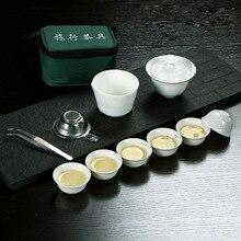 11 шт чайный набор Китай путешествия чайные наборы кунг-фу керамическая портативная чайная чашка из фарфора сервис Gai wan чайный горшок Кружка Чайный чайник для чайной церемонии