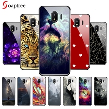 Soaptree Tempered Glass Cases For Samsung Galaxy J2 2018 J2 Pro 2018 Gand Prime Pro J250 J250F SM-J250F Case DIY Painted Cover чехол для samsung galaxy j2 2018 sm j250f jelly cover розовый