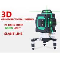 12 линий 3D 93 т t 360 градусов лазерный уровень самонивелирующийся 360 горизонтальный и вертикальный крест супер мощный красный лазерный луч лин