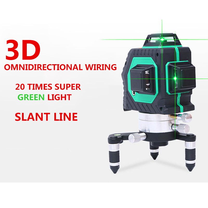 12Lines 3D 93T 360 Degree Laser Level Self-Leveling 360 Horizontal And Vertical Cross Super Powerful Red Laser Beam Line