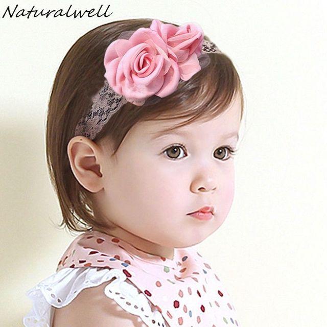 Naturalwell Baby Girls Large Burned Satin Flowers Headband Satin Rose  Headbands Handmade Burned Edges Flower Hair Band 1pc HB053 24e1d1785bf