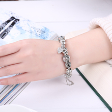 Silver Color Charm bracelet for Women