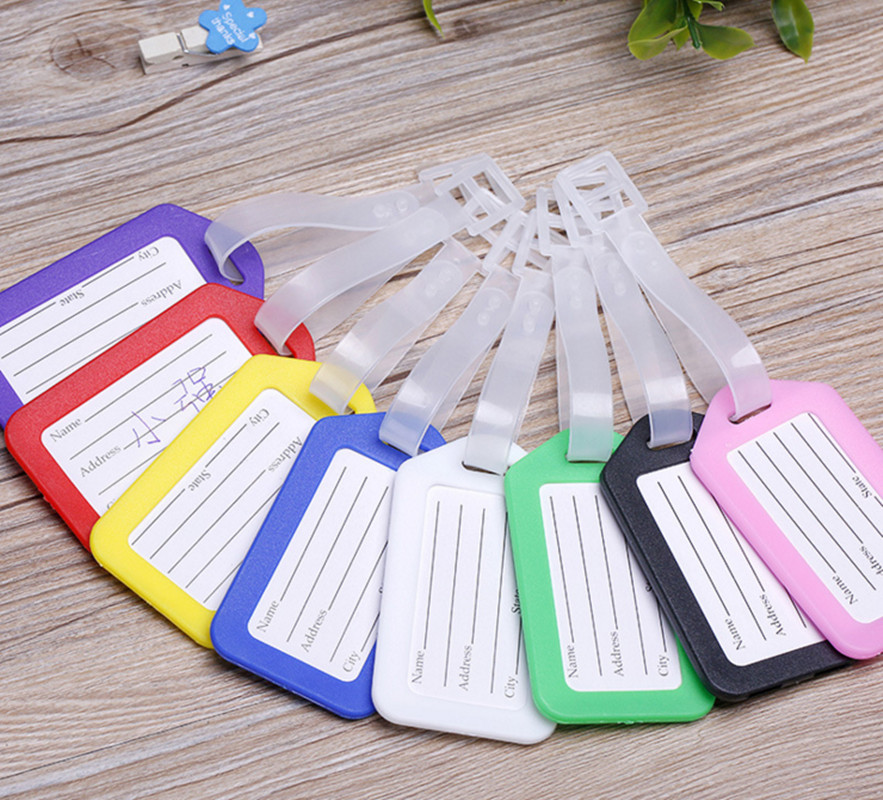 50PCS/Lot Travel Accessories Luggage Tag Suitcase ID Address Holder Baggage Boarding Tags Portable Label High Quality Wholesale