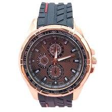 Горячая тада бренд классический черный силиконовый ремешок кварцевый механизм аналоговый дисплей моды 3 цвета мужские спортивные наручные часы