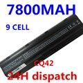 7800 mah 9 celdas de batería portátil de baterías del ordenador portátil para hp compaq cq42 cq32 mu06 mu09 g62 g72 g42 593553-001 dm4 593554-001