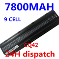 7800MAH 9cells battery notebook laptop batteries FOR HP Compaq MU06 MU09 CQ42 CQ32 G62 G72 G42 593553-001 DM4 593554-001
