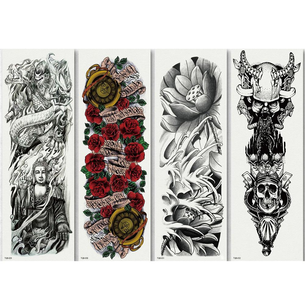 Temporary Tattoo Sleeve Designs Full Arm Waterproof Tattoos For Cool Men Women Transferable Tattoo Stickers Body Art window valance