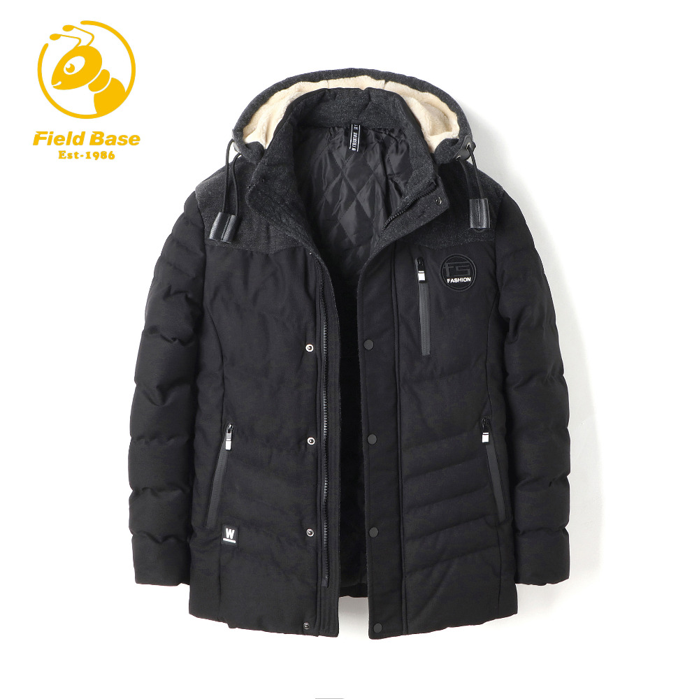 Field Base New Fashion Men's Clothing High Quality Casual Windproof Winter Warm Jackets Coats For Men Solid Parka Outwear HX8851 new original base 1734 tbs high quality