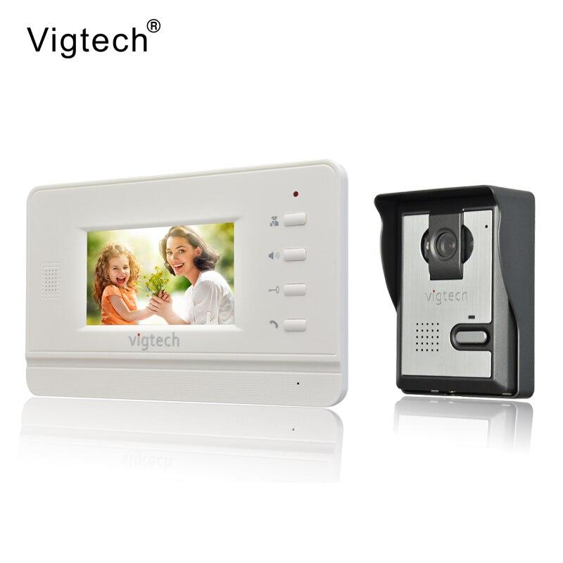 Vigtech Accueil Filaire Pas Cher 4.3 pouces LCD Couleur Vidéo Porte Téléphone Sonnette Interphone Système IR Nuit vision Caméra LIVRAISON GRATUITE
