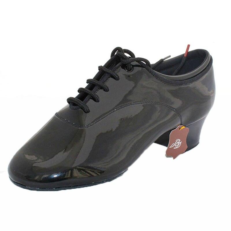 Dancesport BD Dance 417 Men Latin Dance Shoes split Sole Patent Practice Competition Dancing Shoe Improved Heel Ballroom Shoes latin dance shoes sneakers men shoes profession ballroom shoe modern soft cowhide premium oxford heel 4 5 cm bd 417 soft sole