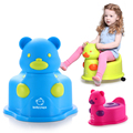 Colorful Potties Cute Bear Multifunctional baby potty kids toilet chair with OR without wheel portable potty baby ZB104