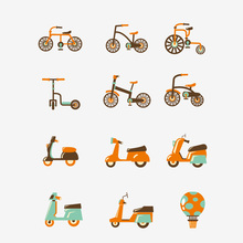 Cartoon Vehicle Metal Cutting Dies Cars Stencil for DIY Scrapbooking Bicycle Motorcycle Hot-air Balloon Stamps And 2018 New