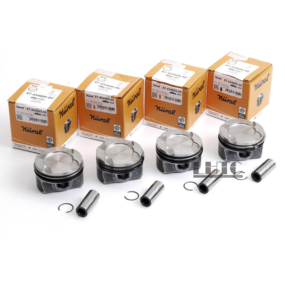 4x Pistons Rings 84mm Φ22mm CR 10:1 Nural Goetze For BMW 125i 320i 328i 428i 528i X1 X3 Z4 F30 F10 F25 E89 2.0T 2.0 Turbocharge