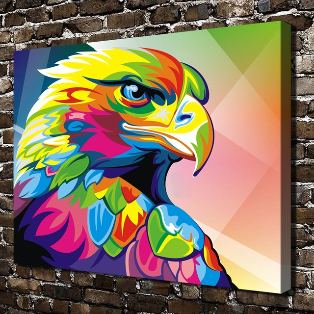 A3490 Abstract Painting Color Eagle Bird Animal .HD Canvas Print ...