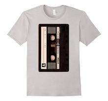 New Round Collar T Shirts Fashion 2018 Short Sleeve Men Funny Crew Neck Dj Mix Tape - Vintage Cassette Shirt