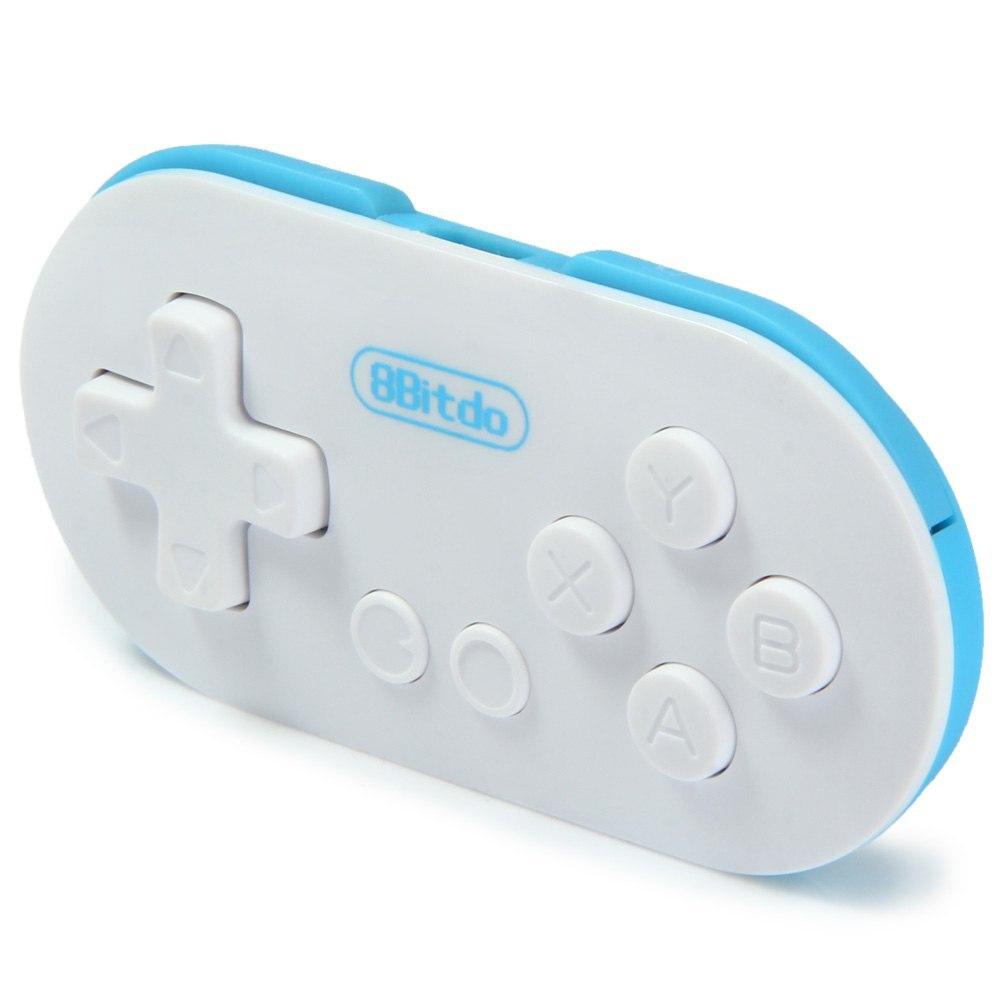Mini 8 bitdo null controller tragbare bluetooth weiß wireless gamepad auslöser für android phones ios für iphone windows mac os