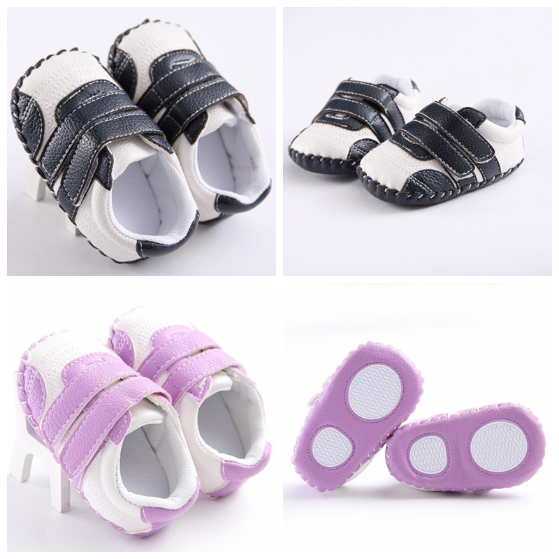 non-slip First Walkers shoes newborn baby boy and girl spring and autumn PU plastic non-slip baby school shoes kids accessories