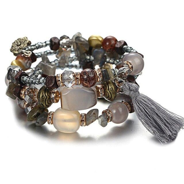 Купить janeyacy винтажные браслеты с кисточками из смолы и камня женский картинки