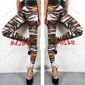 Fashion Girl Punk Gothic Zebra Leopard Striped Leggings Elastic Waist Pencil Fitted Long Pants