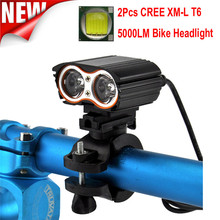 2x XM-L T6 LED USB Waterproof Lamp Bike Bicycle Headlight + Rear Light Outdoor Cycling Bicycle Accessories High Quality May 18