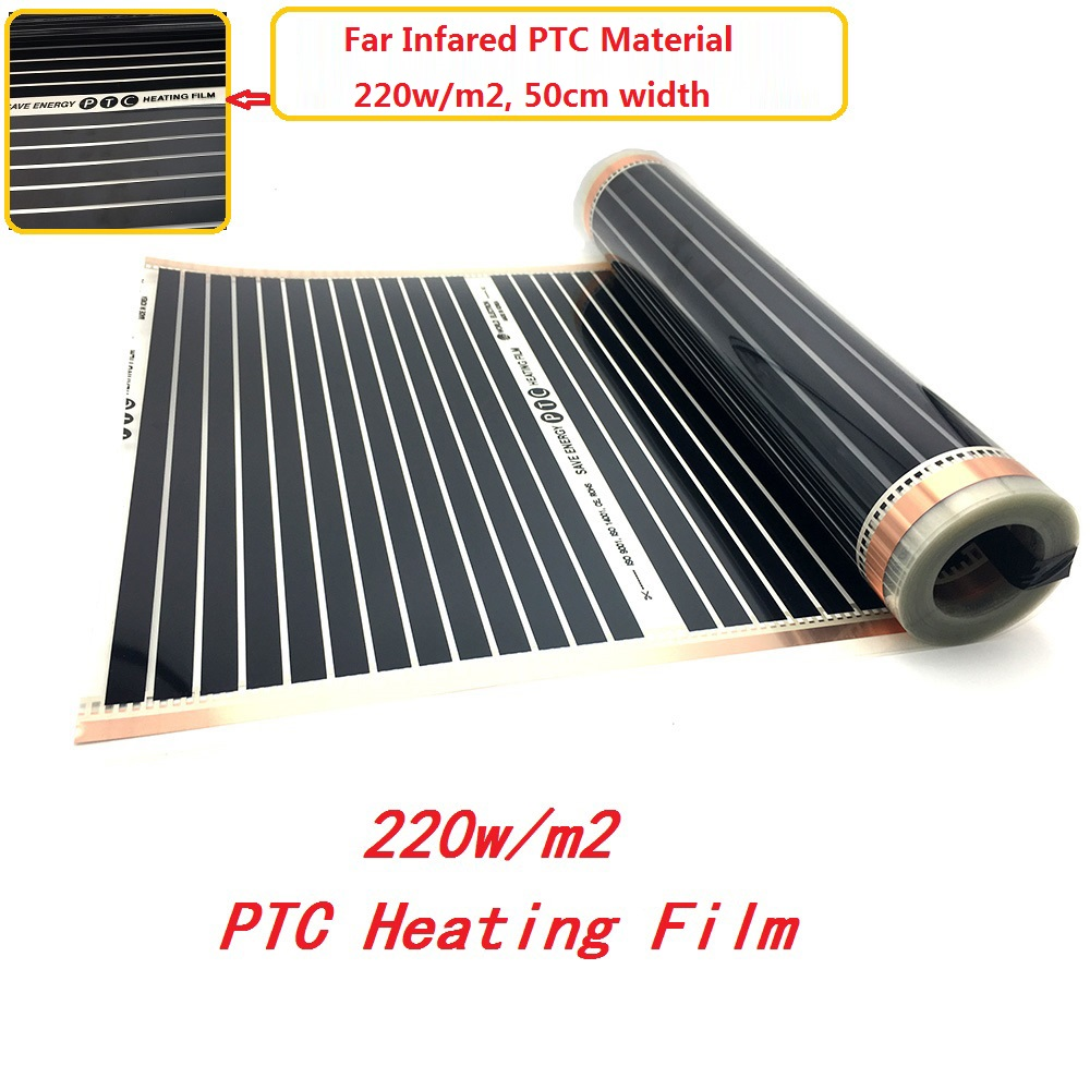 MINCO HEAT 220w/m2 Far Infrared Underfloor Heating Film AC220V PTC Warm Floor Mat Made In Korea
