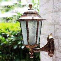 Nhôm và kính Châu Âu phong cách LED tường retro đèn ngoài trời đèn ban công biệt thự vườn đèn đèn chống thấm đèn IY119101