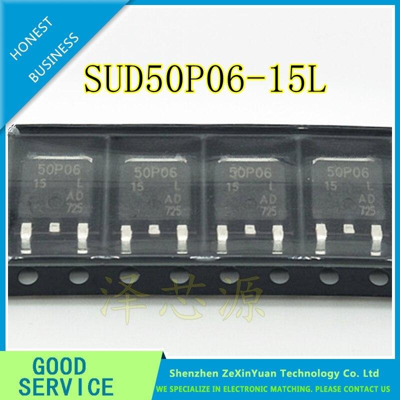 MOSFET D-S 5pcs SUD50P06-15L TO-252 50P06-15 P-Channel 60-V