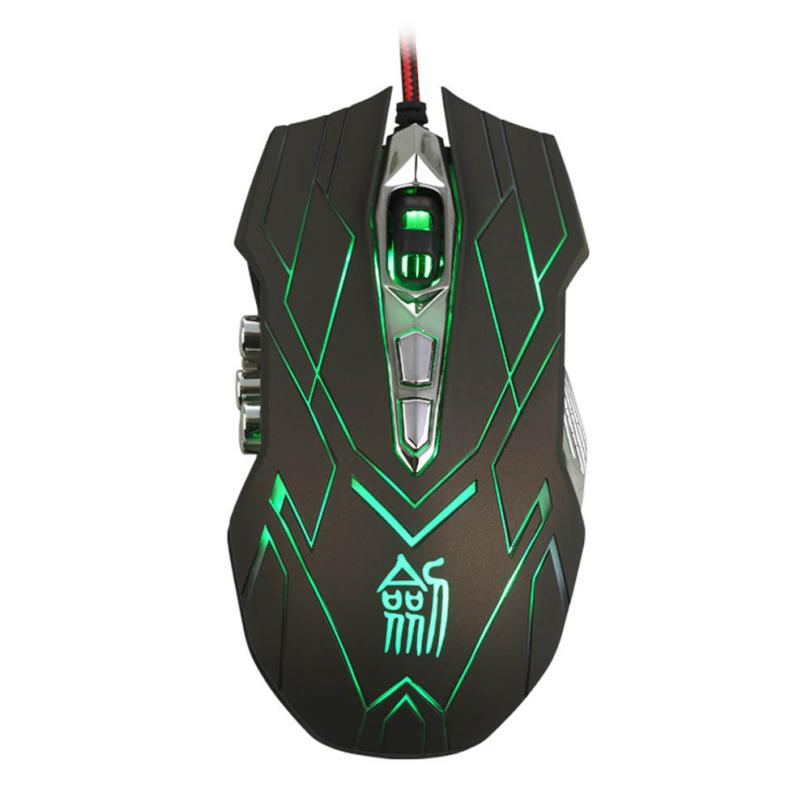 Optical Mouse 10D 4000DPI Optical LED Wired Gaming Mouse For DotA FPS Laptop PC Notebook Souris # T10