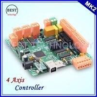 MK2 100 Khz 4 eksen kontrol kurulu Mach3 4 eksen arayüz Yerine CNC kontrolör CNCUSB kurulu için Step motor/Servo