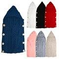 7 diferentes Colores Suave Lindo de Invierno Lana Mezclas Bebé Saco de dormir Recién Nacidos Infantiles Niño Niños ropa de Cama de Bebé Manta Swaddle
