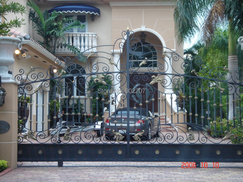 Shanghai Henchuang Industry Co Ltd Wrought Iron Sliding Gates Design Manufacturer In Doors From
