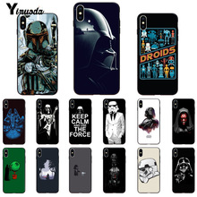 Yinuoda Darth vader Star wars Child DIY Painted Phone Case for iPhone X XS MAX 6 6S 7 7plus 8 8Plus 5 5S XR 11 11pro 11promax yinuoda national flag iran israel phone accessories case for iphone x 6 6s 7 7plus 8 8plus xs xr xs xr11 11pro 11promax