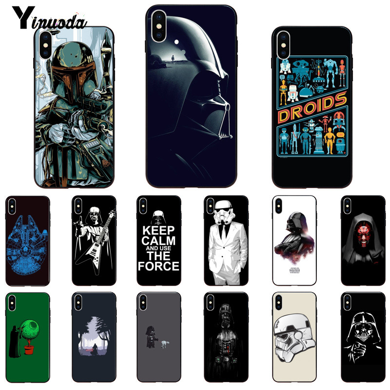Yinuoda Darth vader <font><b>Star</b></font> wars Kind DIY Gemalt Telefon Fall für <font><b>iPhone</b></font> <font><b>X</b></font> <font><b>XS</b></font> <font><b>MAX</b></font> 6 6S 7 7plus 8 8Plus 5 5S XR 11 11pro 11promax image