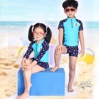 High Quality Summer Style Kids Swimwear Baby Girls Two-Piece Swimsuit Printing Long Sleeves Bathing Suit Children Bikini