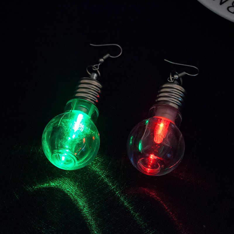 2020 Design unico di Luce Colorata Lampadine Orecchini A Pendaglio Per le donne di Modo Luminoso Ciondola Brincos Divertimento Amici I Regali Del Partito Dei Monili