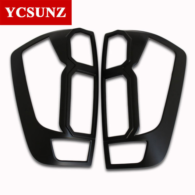 2014-2019 ABS tail light Trim For Nissan Navara 2019 Pick Up Accessories Black Rear Lamp Cover For Nissan frontier 2016 Ycsunz