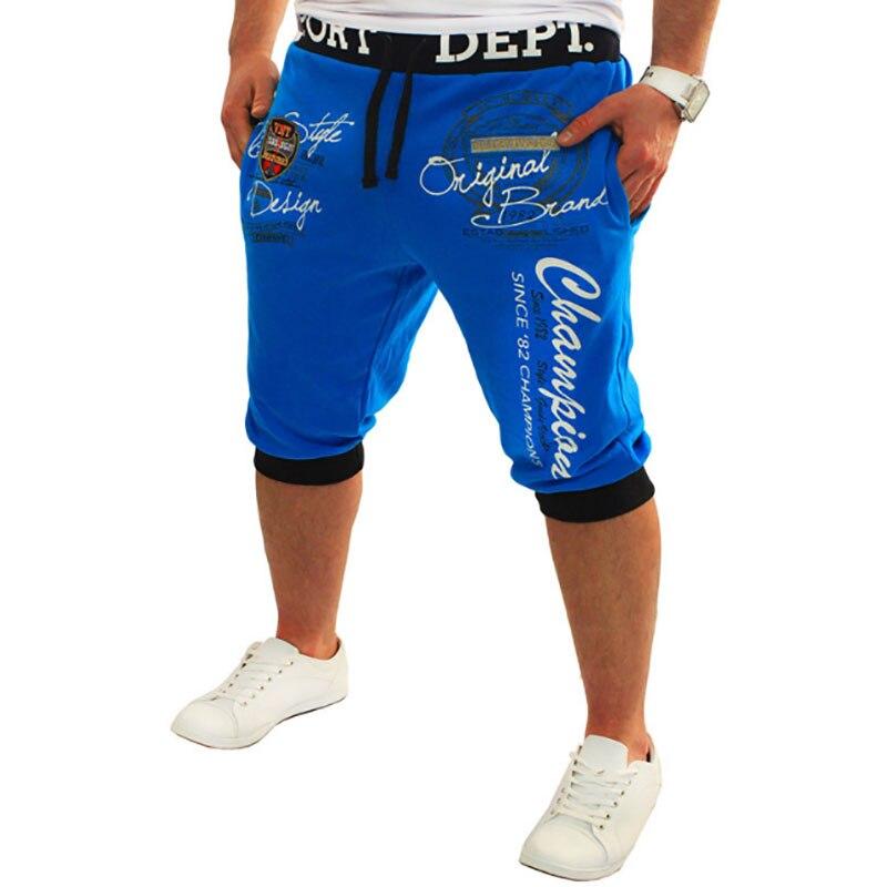Men's New Digital Printing Lettering Fashion Casual Shorts