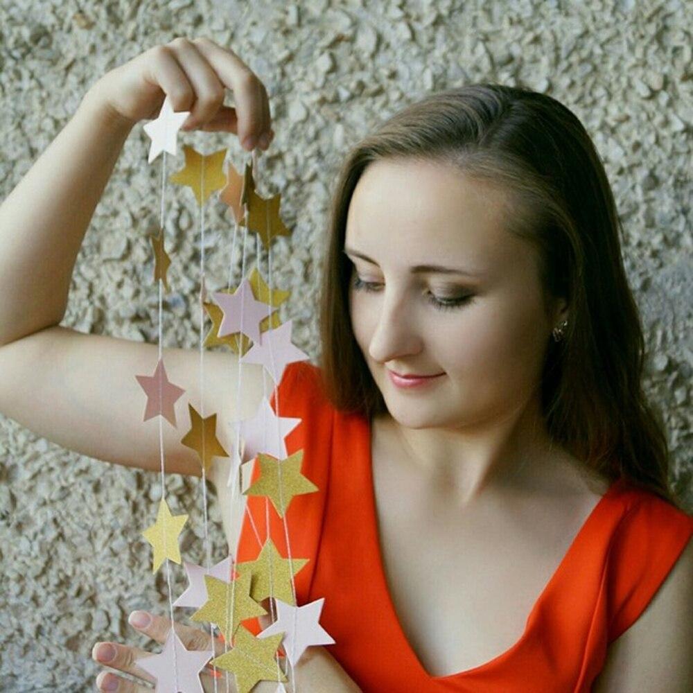 2μ Αστέρι Γκέρλαντ Circle Χαρτί Garland Strings - Προϊόντα για τις διακοπές και τα κόμματα - Φωτογραφία 3
