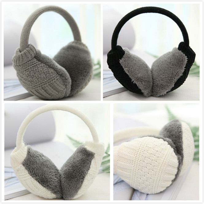 New 2019 Fashion Women Girl Knitted Children Ear Muffs For Boy Earmuffs For Girls Baby Gift Ear Warmers Newest