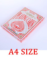Jumbo Playing Cards A4 Size Poker Super Big Paper Poker Cards Advertising Playing Card  Promotion Game Card Gift Huge Card стоимость