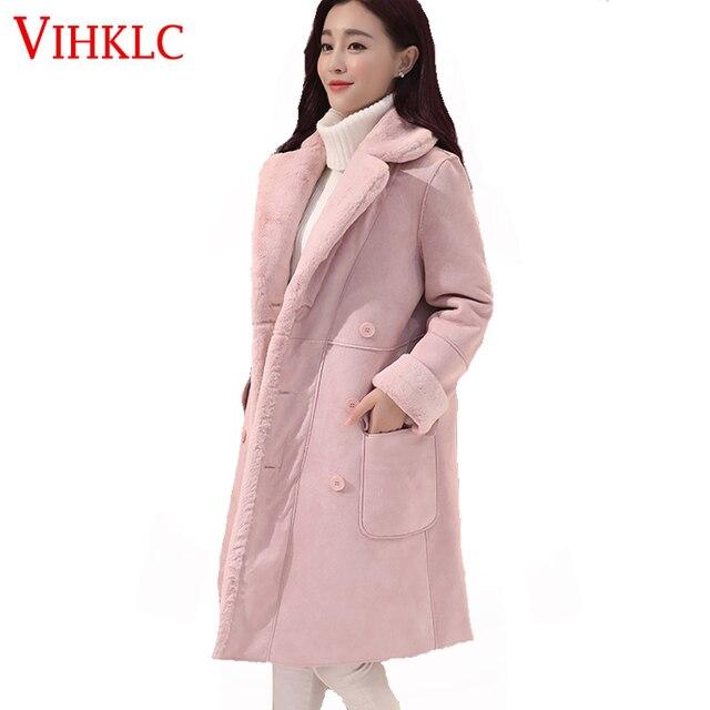 47acae78d 2017 Outono Inverno Nova Moda Casaco de Lã Xadrez Mulheres parágrafo Longo  Solto-Coreano de