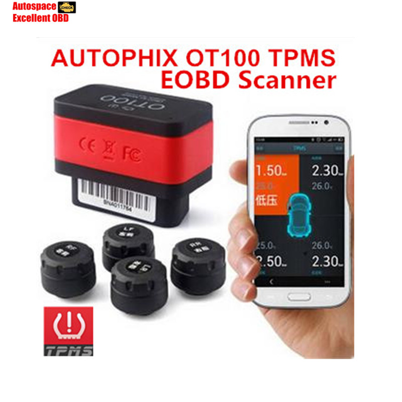 TPMS OBD Diagnotic Tool 2 in 1 Autophix CARAPP OT100 TPMS Bluetooth Car Tire Pressure Gauge