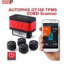 TPMS OBD Herramienta Diagnotic 2 en 1 Autophix CARAPP OT100 Despertador Digital Medidor de Presión de Neumáticos TPMS Bluetooth Coche con OBD2 de diagnóstico