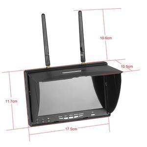 Image 4 - LCD5802D LCD5802S 5802 5.8G 40CH 7 Inch Raceband FPV Monitor 800x480 Met DVR ingebouwde Batteryr video Scherm Voor FPV Multicopter