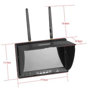 Image 4 - LCD5802D LCD5802S 5802 5.8G 40CH 7 Inch Raceband FPV Monitor 800x480 With DVR Build in Batteryr Video Screen For FPV Multicopter