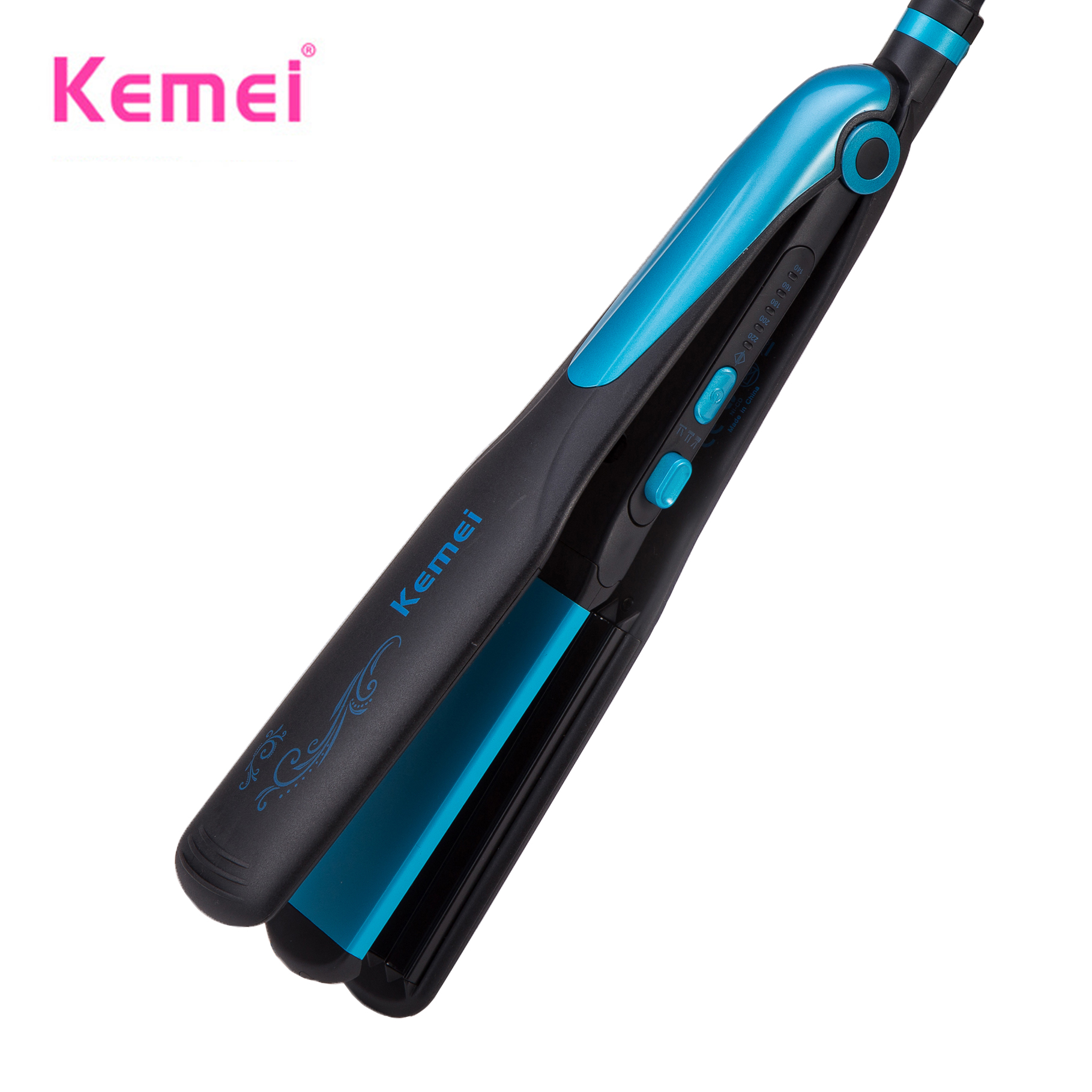 kemei hair straightener waves curling irons curler women professional 2 in 1 ionic straightening iron & curler styling tool flat 2 in 1 new flat iron straightening irons styling tools professional hair straightener