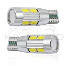 2x T10 5630 10 smd DC 12v Canbus Car Light W5W Bulb No Obc Error clearance turn wedge light side lamp styling car accessorie