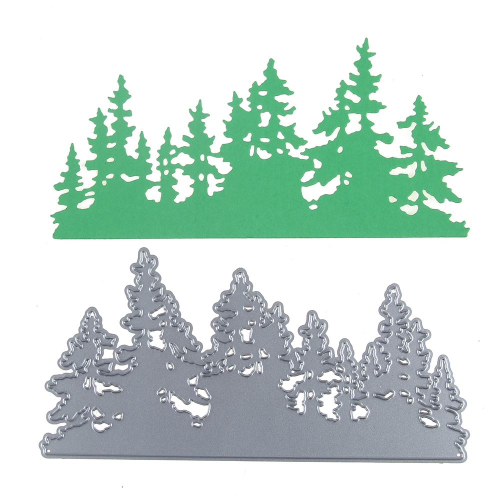 Estel 140*70mm Christmas Trees scrapbooking DIY Sharp Metal Carbon steel cutting die Book photo album art card Dies Cut Decorati