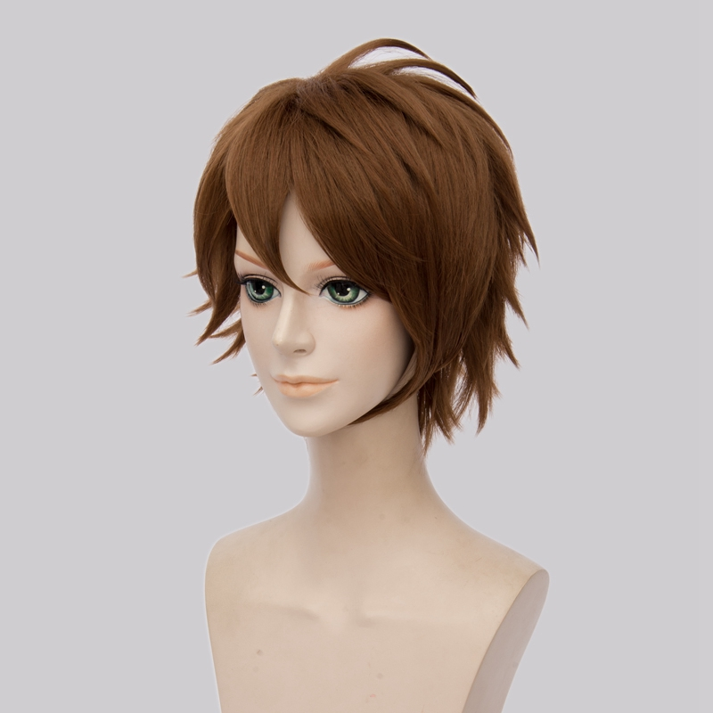 New Arrival Idolish7 Tsunashi Ryunosuke Short Straight Cosplay Wig High Quality Synthetic Hair Anime Costume Party Wig Brown